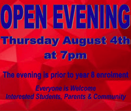 Year 8 Open Evening