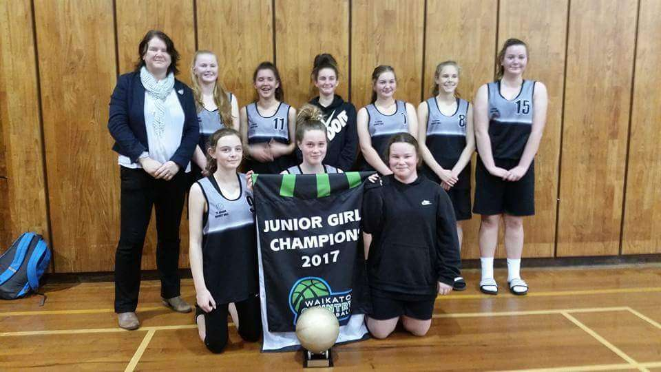 Te Aroha College are the Junior girls Basketball champions