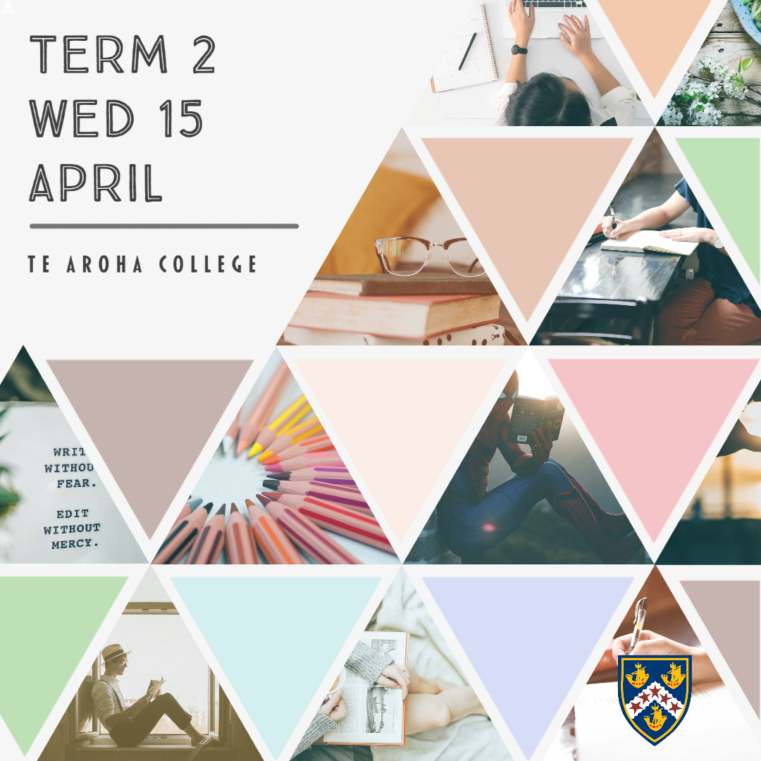 Start of Term 2 Update 14 April • News  •  Te Aroha College